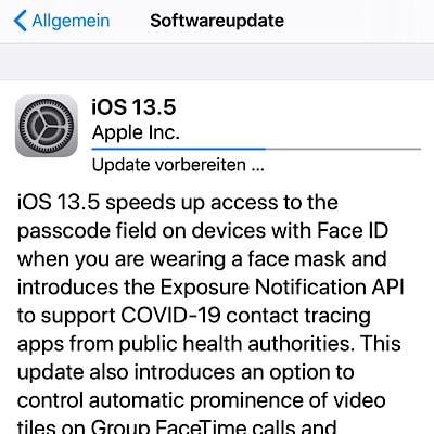 Apple veröffentlicht iOS und iPadOS 13.5 Golden Master
