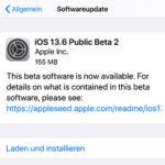Apple veröffentlicht iOS 13.6 Beta 2