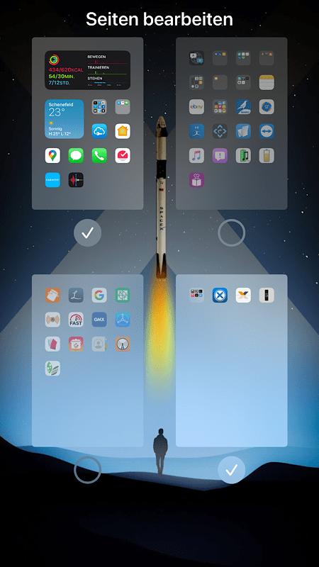 Apple Homescreens verwalten