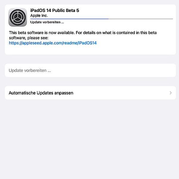 iOS und iPadOS 14 Beta 5