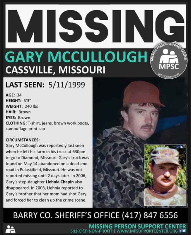 Gary McCullough missing