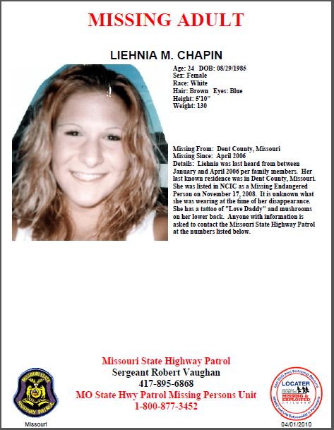 Liehnia Chapin missing
