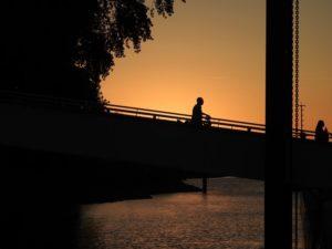 Hamburg Finkenwerder Sonnenuntergang