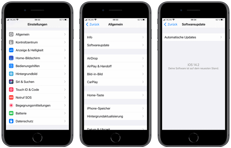 iOS oder iPadOS installieren