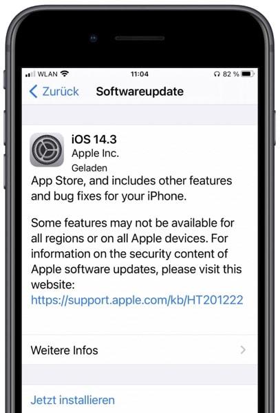 iOS 14.3 public