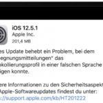 Apple veröffentlicht iOS 12.5.1 für ausgewählte Geräte