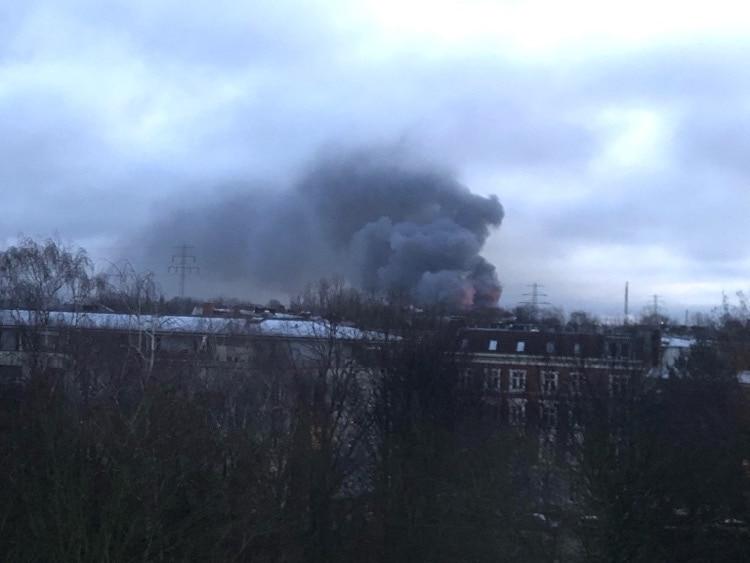 Großfeuer in Hamburg-Wilhelmsburg