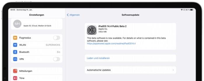 iOS 14.4 Beta 2: Apple veröffentlicht die zweite Betaversion