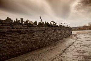 Schiffswrack Elbe - Fotografie
