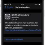 iOS 14.5 Beta 1: Apple veröffentlicht nochmals erste Beta-Version