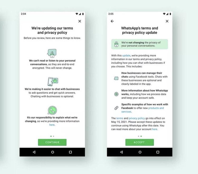 WhatsApp: Wenn man den neuen Datenschutzbestimmungen nicht zustimmt