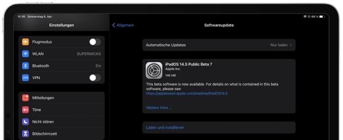 Apple veröffentlicht iOS 14.5 Beta 7 und iPadOS 14.5 Beta 7