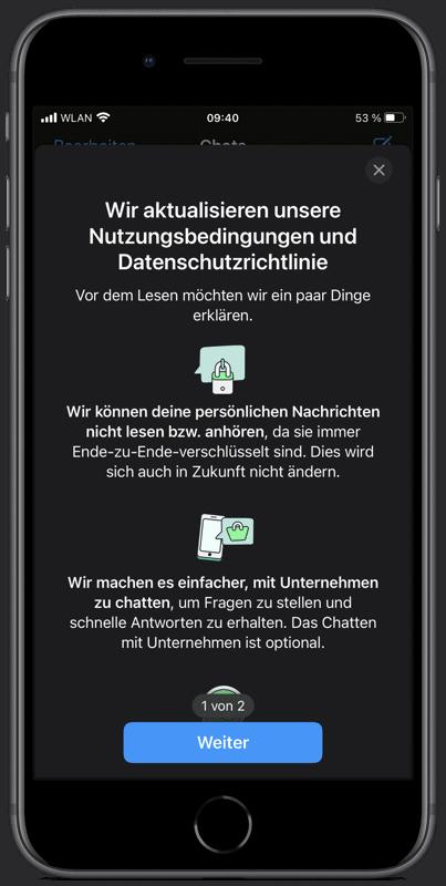 WhatsApp: Zwang zu neuen Nutzungsbedingungen verzögert sich
