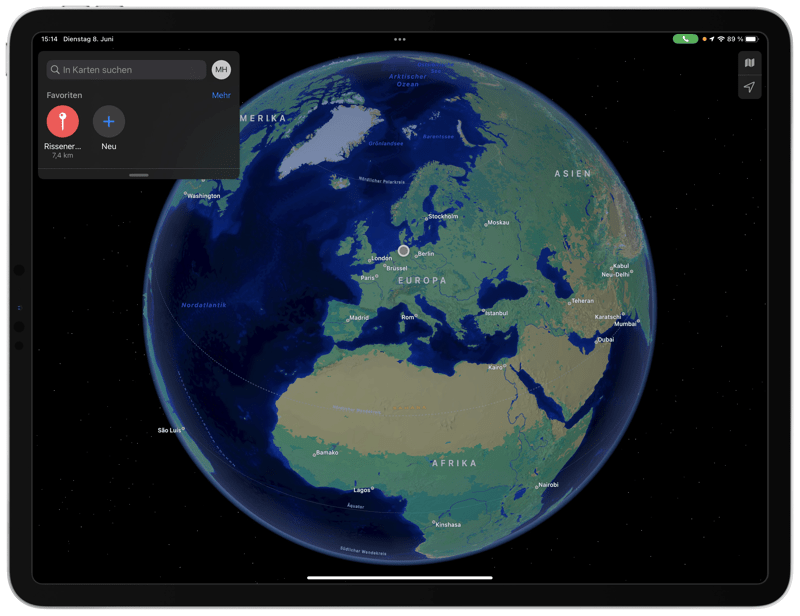 iOS 15 - Apple Karten - Welt