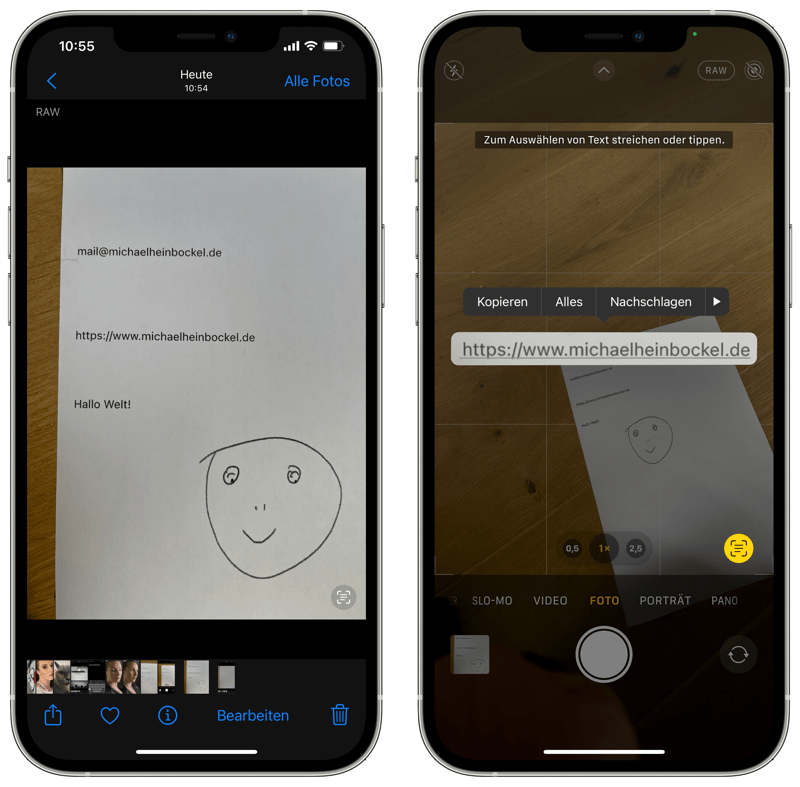 iOS Livetext