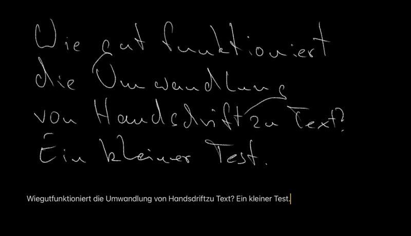Apple Pencil - Handschrift in Text umwandeln
