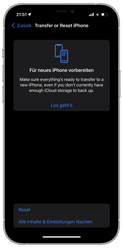 iPhone auf ein Neues übertragen