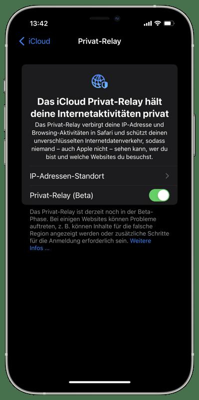 Privat-Relay (Beta)