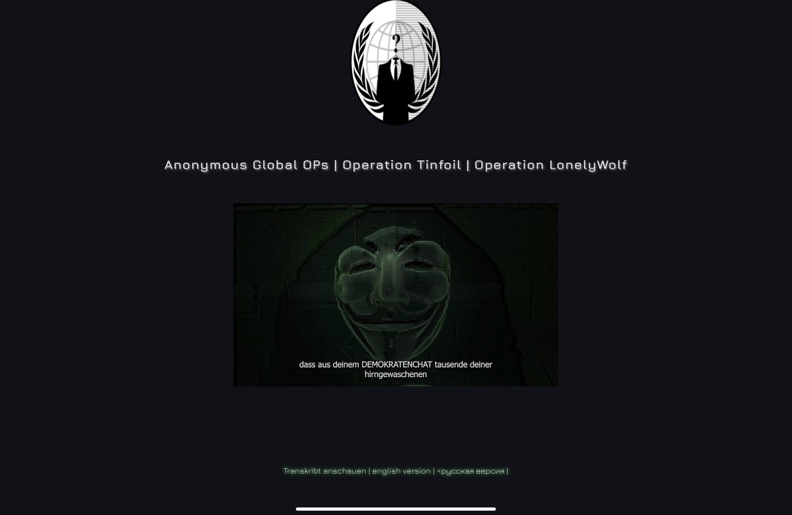 Anonymous übernimmt Attila Hildmann-Webseite und Telegram-Kanäle