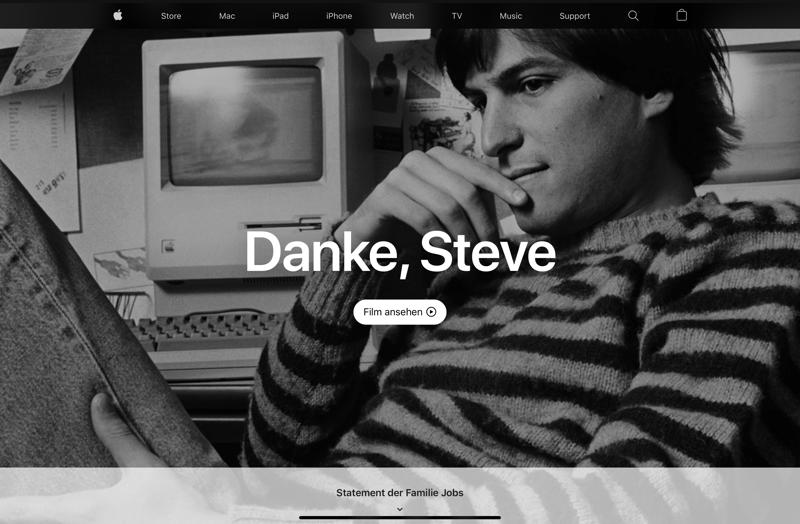 Apple - Danke, Steve